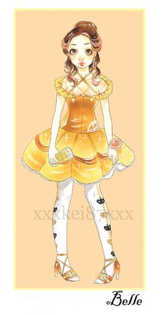 she is so precious! it almost looks like she is going to her first High School dance :) by xxxKei87xxx at Deviantart.com
