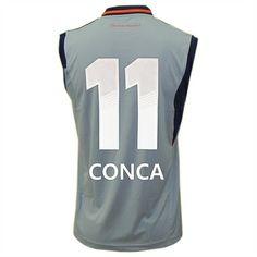 114d59ace77d5 Regata Fluminense Treino Conca 11 Adidas Cinza - Personalize Patch CBF