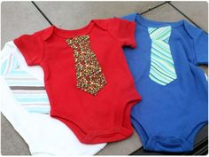 how to make tie pattern onesies
