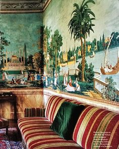 (John Yunis) Conte Pietro Pesenti, Conte Agliardi, Villa Agliardi, Bergamo. From an old World of Interiors, photo by Jacques Dirand