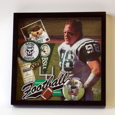 ee5104d0823 Football shadow box designed by Archiver  featuring Football laser cut by  Paper Wizard. High School FootballHigh School GraduationGraduation ...