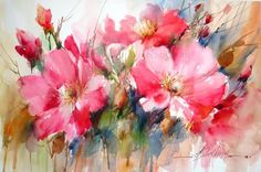 Fabio Cembranelli - Paintings 'Wild Flowers' Watercolor, 2013