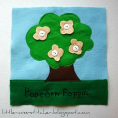 LDS Quiet Book: Popcorn Poppin'
