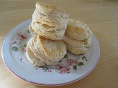 Easy Biscuits- no buttermilk which is great since I never have it in the house