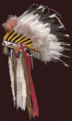 Sioux Headdress / Plains Indian Headd Mixed Media by Native Arts Trading