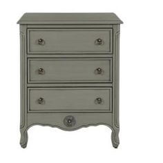 HOME DECORATORS COLLECTION Keys 3-Drawer Nightstand in Grey 9808700270 at The Home Depot - Mobile