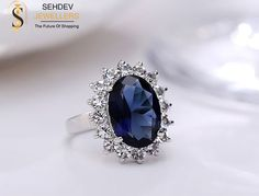 Dazzle the world with this #elegant #bluesapphire #ring .
