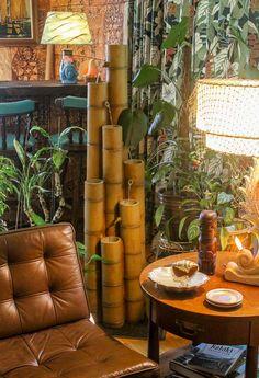 Ranch Kitchen Remodel, Galley Kitchen Remodel, Barbacoa, Bamboo Fountain, Bamboo Bar, Tiki Bar Decor, Tiki Lounge, Retro Renovation, Tiki Room