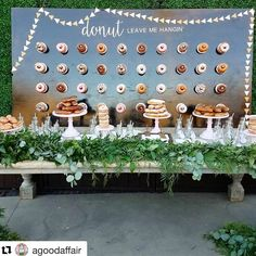 I'm pretty sad this whole wedding thing is over. Our dnut wall was a hit! All 200 donuts were gone by the end of the night. A lot of hard work and love went into all the details of the ceremony and reception and I can't wait to see the photos and video so we can see it all over again (without being so busy and overwhelmed). Thank you @agoodaffairanna and @agoodaffair team for setting everything up so perfectly! The entire wedding was a dream come true! #donutwall #natandpetegetmarreed…