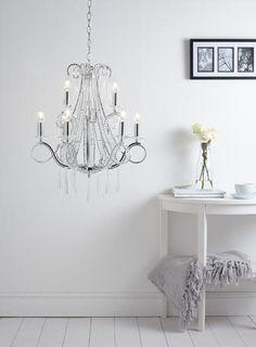 Trinity 9 Light Chandelier bedroom chandelier beaded crystal light clear chrome BHS