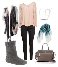 """Fall in New York City"" by bearpawstyle on Polyvore featuring H&M, Love 21 and Kate Spade"