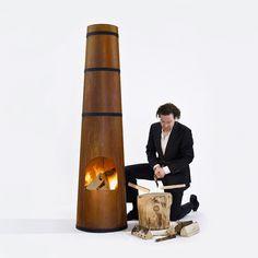 SmokeStack outdoor heater by Frederik Roijé #Design #MilanDesignWeek