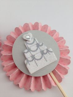 Wedding Cake Cupcake Toppers by InkCouture on Etsy, $8.00