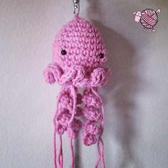 Looking for a place to hide your lip balm so you won't lose it? Hook up a jellyfish lip balm keyring cozy and you'll never missplace it again. http://dearestdebi.com/lip-balm-crochet-jellyfish