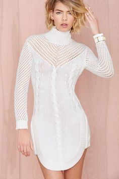 Bless'ed Are the Meek Walway Sweater Dress - Body-Con | Day | Solid | Going Out | Play, Girl