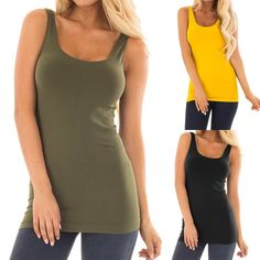 ea39dbf29e3ed8 Women s Casual Tanks Tops Ladies Sleeveless Round Neck Solid Slim Fit  Blouse Shirt Vest For Sports Clothes haut femme 2019