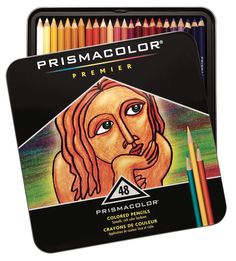 Prismacolor Premier Non-Toxic Soft Core Waterproof Colored Pencil Set, Thick Tip, Assorted Color, Set of 48 #mycdwishlist