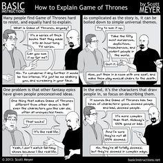 Un petit comics qui résume bien le principe de la fameuse saga de George R.R. Martin… Plus besoin de présenter Game Of Thrones. Les romans font partie intégrante de la Culture Geek depuis le …