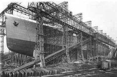 Titanic under construction at Harland and Wolff, Belfast Titanic Ship, Rms Titanic, Titanic Photos, Original Titanic, Titanic History, Submarines, Belfast, Olympics, Ocean