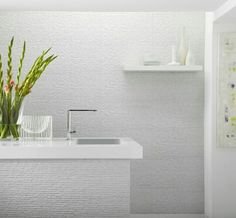 Stratum white tile with 1 Mil spaces