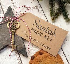 Key of Santa. Magic key of Santa Claus. Santa's magic key - Christmas Tips for 2020 Christmas Eve Box, Christmas Gifts For Kids, All Things Christmas, Kids Gifts, Handmade Christmas, Father Christmas, Christmas Ideas, Primitive Christmas, Retro Christmas