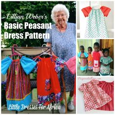 In honor of Lillian Weber's approaching 100th birthday, I found several free patterns of the basic peasant dress (before ruffles and appliques and pockets) that Lillian makes for Little Dresses For Africa. http://www.deeprootsathome.com/lillian-webers-basic-peasan…/ Deep Roots at Home