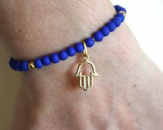 Beaded Hamsa Bracelet - Lucky Hamsa Charm - Gift for Her - Good Luck Bracelet - Karma Bracelet