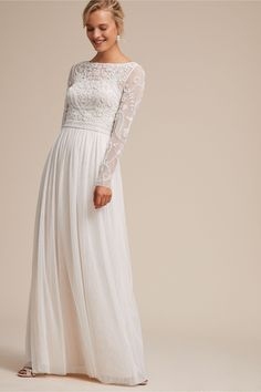 Sinclair Dress Ivory/Champagne in Bride   BHLDN