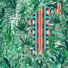 Les papiers peints tendances Papier peint Papagayo (Pierre Frey)