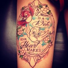 The first Cinderella tattoo I've seen that's not tacky!