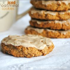 Iced Oatmeal Cookies....better than the grocery store version! I remember these from my childhood.