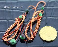 Black Baccarat: Orecchini Zoisite con Rubino