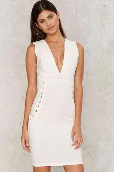 c435ca2a20 Marnie Lace-Up Midi Dress White Midi Dress