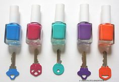 Use nail polish to colour code your keys! Such a great idea.