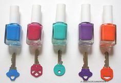 personalizar suas chaves com cores ainda mais bacanas do que aquelas que o chaveiro oferece... usando esmalte!