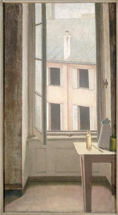 • BALTHUS (1908-2001) • Fenêtre, cour de Rohan-Troyes • 1951