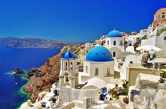 Many Eastern Mediterranean cruises or Greek Island cruises include stops at both Santorini and Mykonos. But if your itinerary stops at only one of the islands, here is our breakdown of Santorini versus Mykonos. Mykonos, Oia Santorini Greece, Santorini Travel, Santorini Island, Greece Travel, Greece Trip, Greece Cruise, Greece Tours, Santorini Hotels