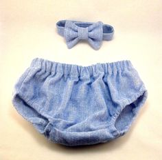 Blue Diaper Cover and Tie