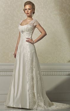 Sporting Pleats Satin Mermaid Modest Wedding Dresses With Cap Sleeves V Neck Buttons Informal Reception Country Wedding Gowns Fast Ship Products Are Sold Without Limitations Weddings & Events