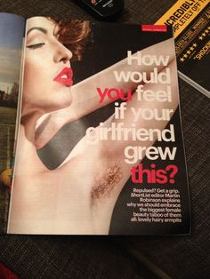 The rarest of the rare: a men's magazine advocating hairy armpits on women.