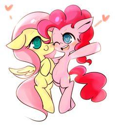 [MLP] pinkie pie x flutter shy by CoffeeLSB.deviantart.com on @deviantART
