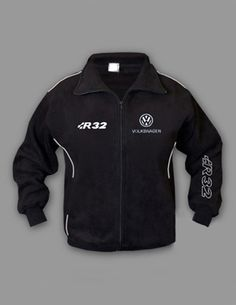 VOLKSWAGEN R32, Fleece Jacket, 70% Cotton 30% Polyester, Logo on front and back, 2 front pockets - zipped Size - S, M, L, XL, XXL, XXXL, PRICE $55