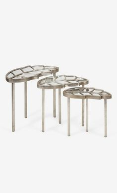 Mulberry Leaf Nesting Tables//