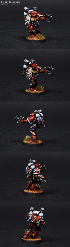 Another mini for Blood Angels. This one also has a magnetic backpacks but I just forgot ot take picture with jump pack. So just keep in mind that there is one jump pack somewhere around.