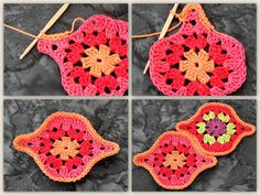 Tessellated crochet granny motif
