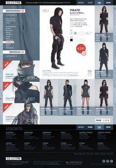 DEMOBAZA on Behance Layout Design, Web Design, Bodysuit Dress, Pj, Futuristic, Fashion Brand, Ecommerce, Behance, Templates