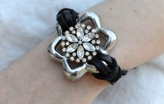 Upcycled Sparkle Blossom Bracelet