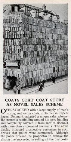 Coats coat coat store 1936