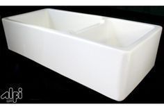 ALFI brand AB4019 XL Double Bowl Fireclay Apron Front Farm Kitchen Sink at bluebath.com $1,449