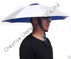 Hat fishing umbrellas,UV protecting,ajustable sizes and round ribs,65cm diameter outdoor product,suitable for sun&rainy day #Affiliate